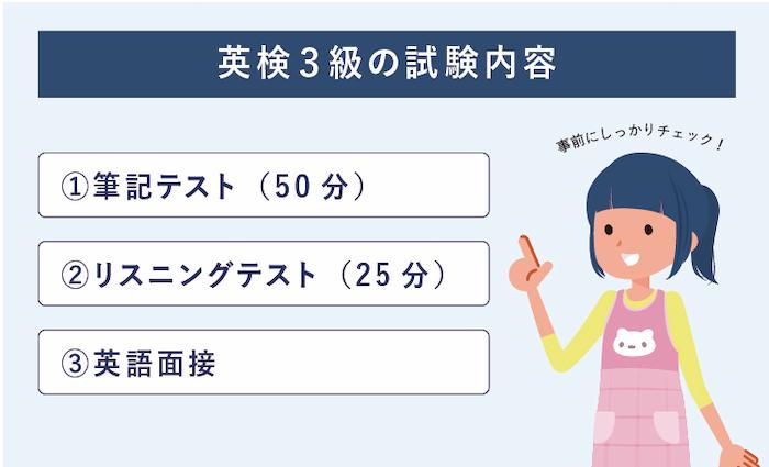 英検3級 試験内容